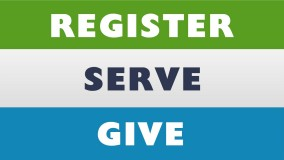 Register - Serve - Give